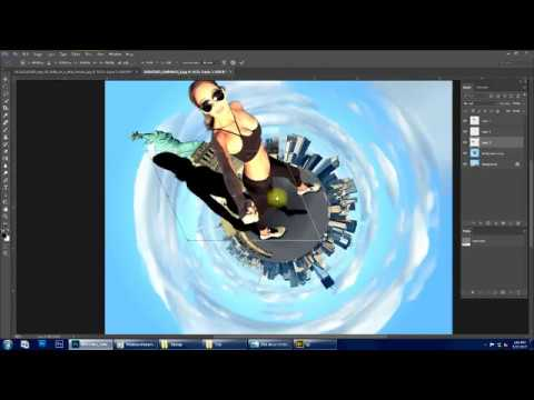 Tiny planet photo manipulation tutorial   Photoshop CC
