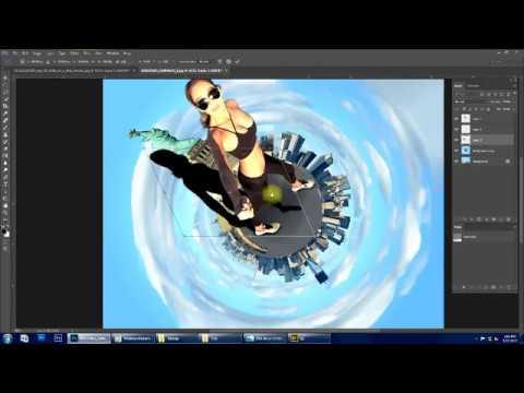 Tiny planet photo manipulation tutorial   Photoshop CC