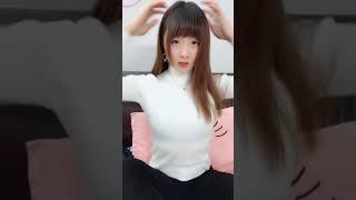 Beautiful Chinese girl, dancing to show 1831