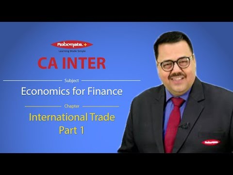 Economics for Finance - International Trade Part 1 Demo Video Lecture