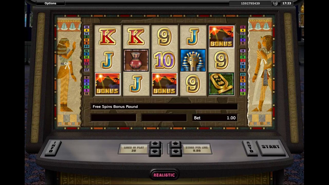 U0421asino På Nätet Realistiska Tutankhamun Video Slot Frispel Youtube
