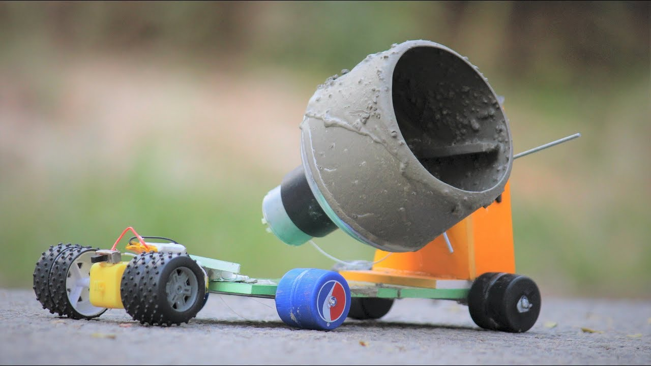 Build Your Own Cement Mixer ~ How to make a cement mixer youtube
