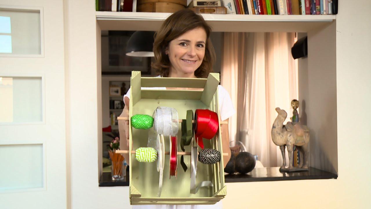 Porta nastri fai da te con una cassetta della frutta riciclo creativo youtube - Antifurti per la casa ...