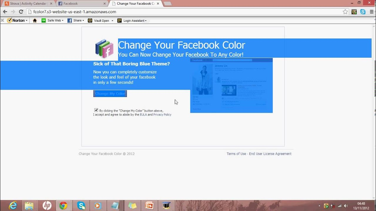 Change Colour On Your Own Facebook Page