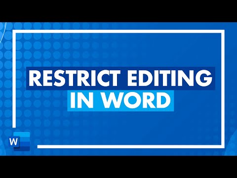 How to Restrict Editing in Word