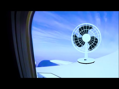 PLANE SOUNDS + FAN NOISE = RELAXING WHITE NOISE 10 hours w/ DARK SCREEN for SLEEP SOUNDS or Study