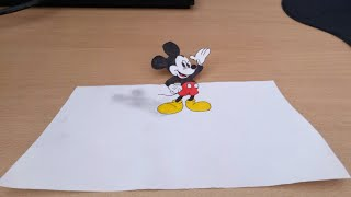 Mickey mouse | How to draw Mickey mouse, 3D drawing.