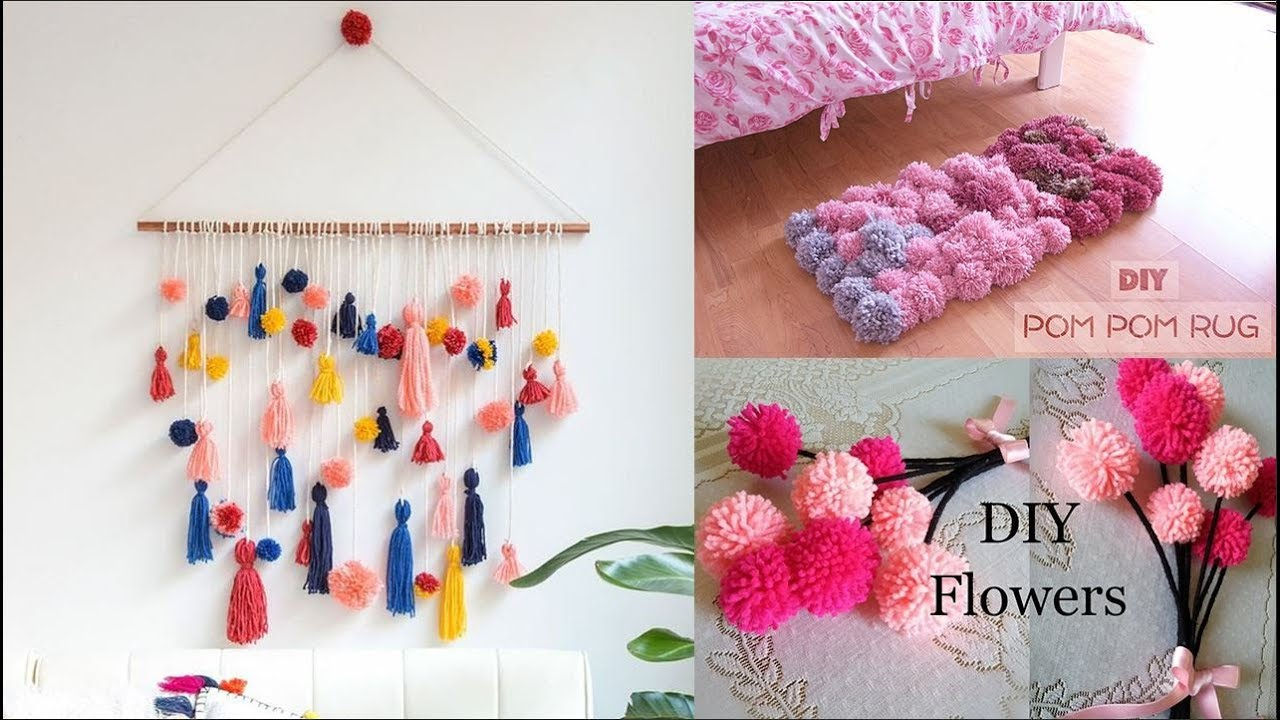 home decoration craft ideas how to make a pom pom top 10 pom pom craft ideas home 4693