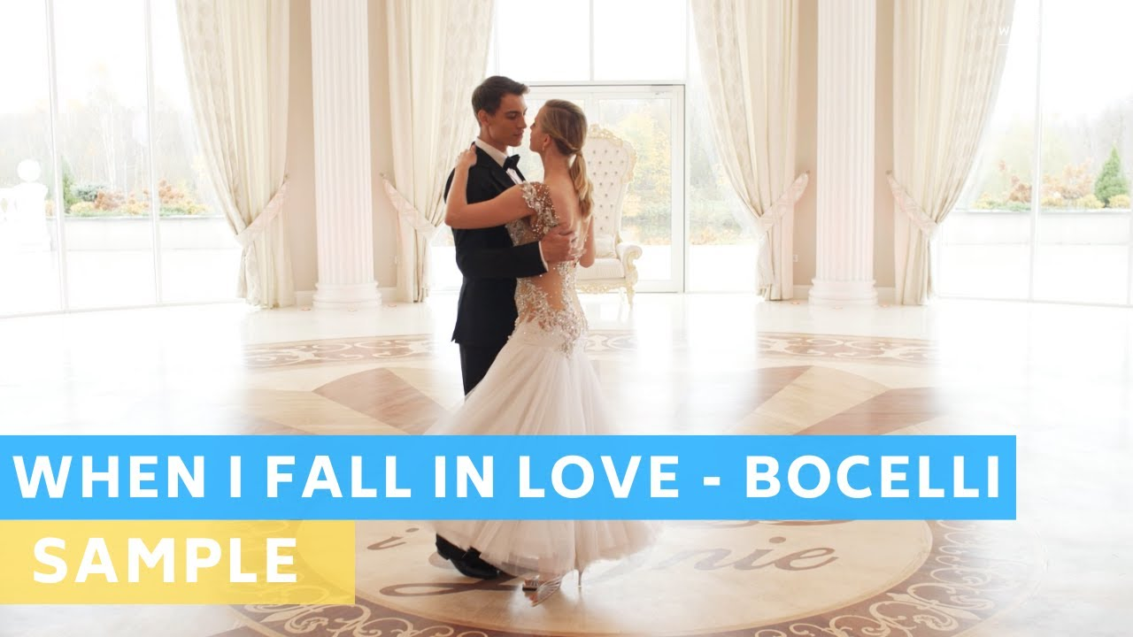 Sample Tutorial: When I fall in love - Andrea Bocelli | Wedding Dance Choreography | First Dance