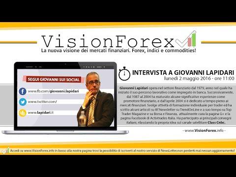 Intervista a Giovanni Lapidari, trader indipendente e professionista !