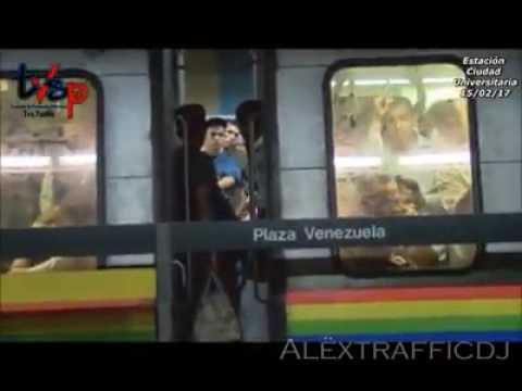 Anarquía en el metro de caracas