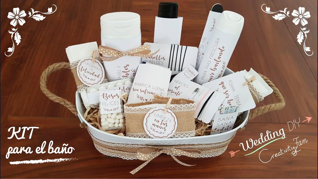 Tutorial canasta kit para ba o ideas para boda youtube Cosas para bano baratas