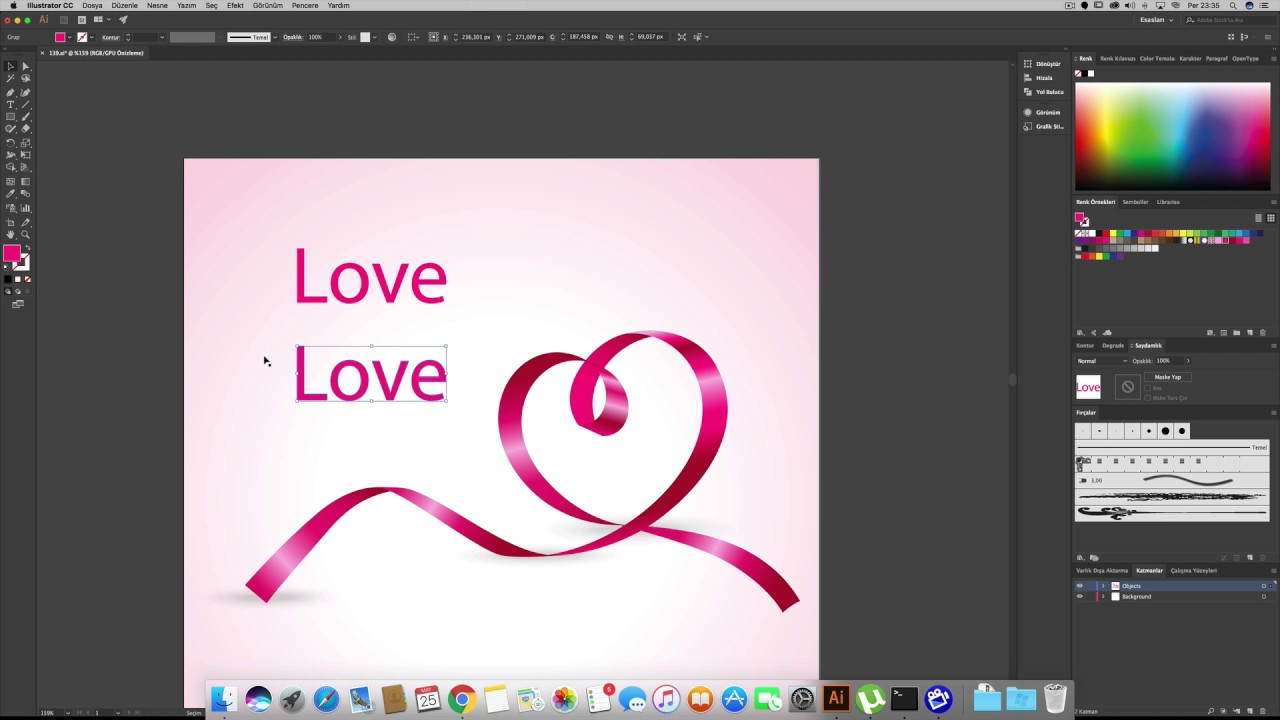 how to add gradient to text in illustrator cc