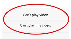 Fix Can't play this video Error in Android|Tablet