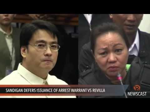 Sandigan defers issuance of arrest warrant vs Revilla