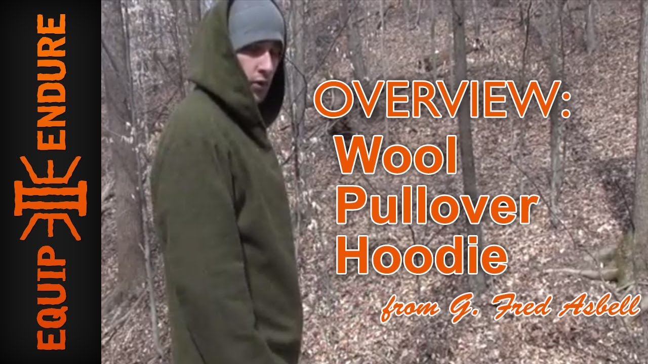 Wool Pullover Hoodie from G. Fred Asbell, Outdoor Clothing ...