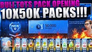 FIFA 15 ULTIMATE TEAM - TOTS PACK OPENING 10X50K SETS! [FACECAM] FT. 3 TOTS! BUNDESLIGA TOTS DEUTSCH