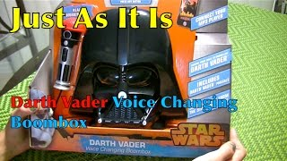 Star Wars DARTH VADER Voice Changing Boombox Review and Unboxing