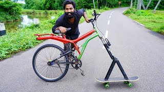 FUNNY SKATEBOARD CYCLE MAKING | M4 TECH |
