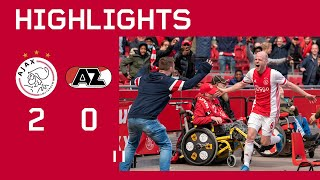 Highlights | Ajax - AZ | Eredivisie | Football with fans 😍