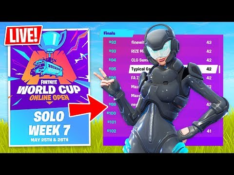 Fortnite WORLD CUP QUALIFIER $1,000,000 Solo Tournament! (Fortnite Battle Royale)