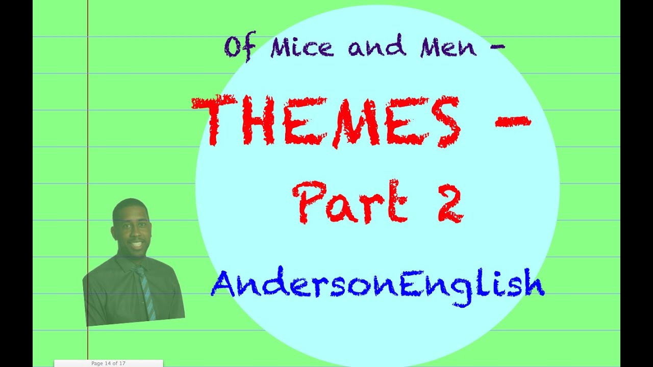 of mice and men theme of Destruction at the end of the story the two main themes in of mice and men – foreshadowed by the reference to burns' mouse – are loneliness and dreams.
