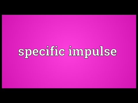Specific impulse Meaning