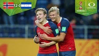 Erling Haland golea a Honduras | Noruega 12 - 0 Honduras | Mundial Sub 20 2019 | Televisa Deportes