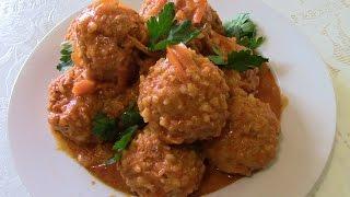 Мясные ёжики. Вкусные и нежные тефтели с рисом в соусе.
