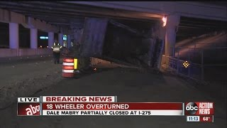 Dump truck overturns on Dale Mabry Hwy.