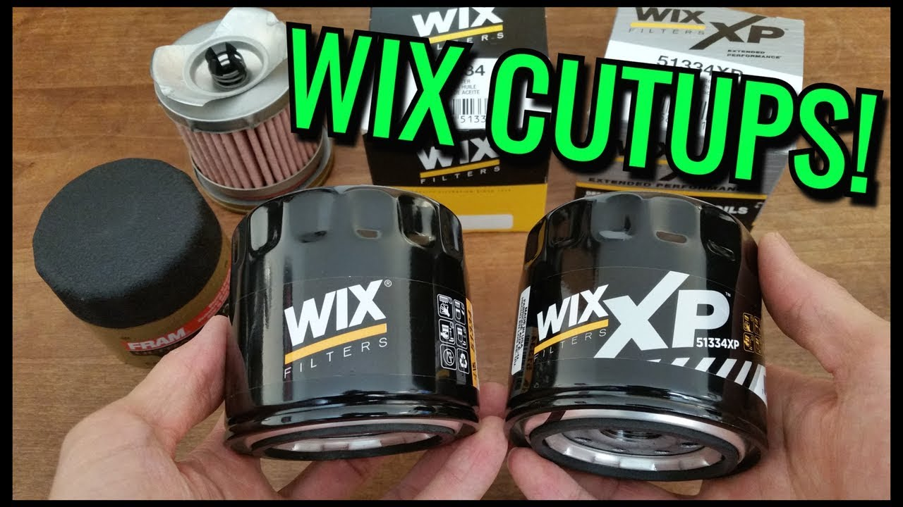 Wix Filter Lookup >> Wix Oil Filters Cut Open Xp Vs Regular Vs Fram Ultraguard