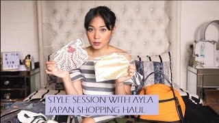 Japan Shopping Haul: Clothes Bag Shoes   Style Session w Ayla Dimitri (Bahasa Indonesia)