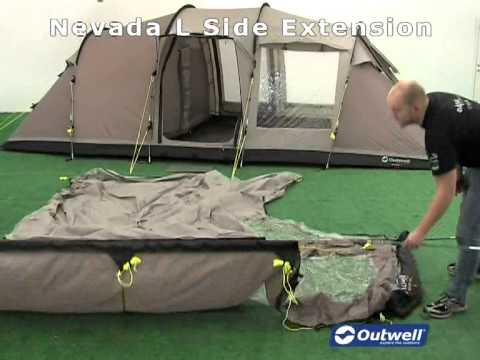 & How to pitch the Outwell Nevada L Side Extension - YouTube