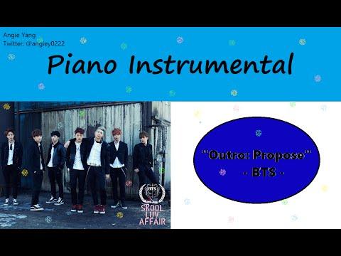 """[Piano Instrumental] 방탄소년단 BTS """"Outro: Propose"""""""