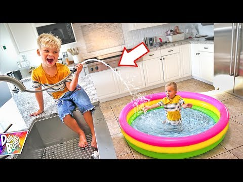 Indoor Inflatable Swimming Pool Prank! 😱 (CAUGHT ON CAMERA!)