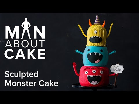 Sculpted Monster Birthday Cake (for da kidz) | Man About Cake with Joshua John Russell