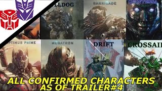 Transformers The Last Knight All Characters In The Movie As Of Trailer#4
