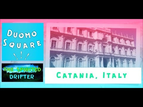 Duomo Square Catania, Italy - Fontana Dell'Elefante Turismo