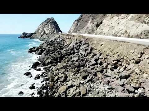 Point mugu rock drone footage