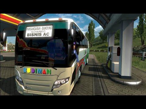 BUDIMAN BISNIS AC Pangandaran-Bandung Via Cihaurbeuti || ETS2 Mod Indonesia