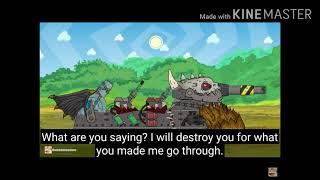 Tank battle with the evil tanks vs the good tanks