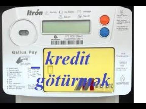 Yeni qaz saygacinda karti saygaca tanitmaq ve kredit goturmek. F008, F051, F015 yazarsa 185-ə yığın.