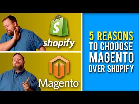 5 reasons you should choose Magento vs Shopify