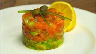 Тартар из лосося и авокадо. Рецепт от Всегда Вкусно!