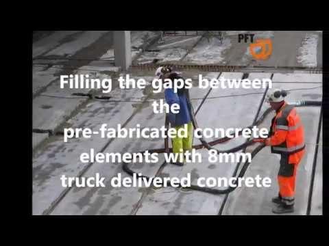 PFT ZP3 XXL pumping concrete / bombeando hormigón / a bombeiar betão