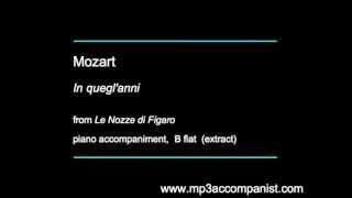 Mozart: In quegl'anni (Le Nozze di Figaro) - Piano Accompaniment