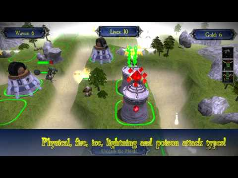 Kingdoms Defender for Android Official Trailer (3D Tower Defense)
