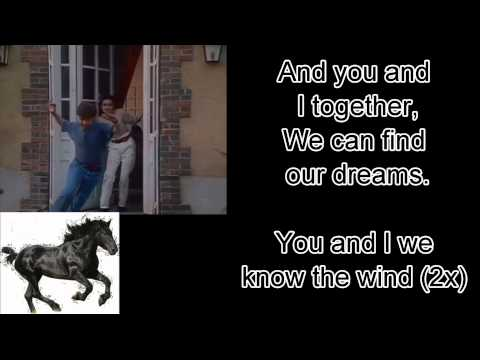 """The Adventures of the Black Stallion Soundtrack / Terry Frewer """"We Know The Wind""""Lyric :)"""
