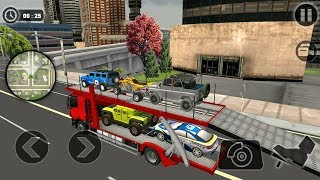 Vehicle Transporter Trailer Truck Android Gameplay | Racing Vehicles & New Car Games for Kids