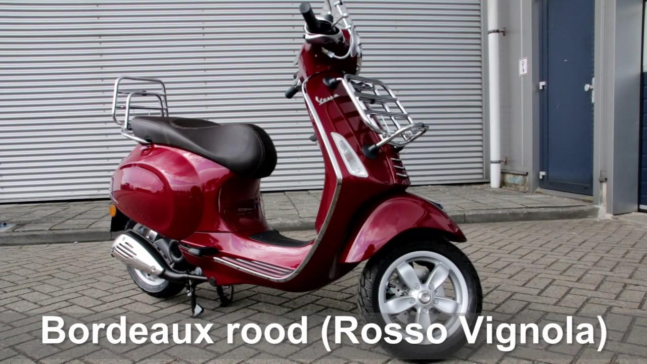 vespa touring rood bordeaux rosso vignola 2017 model youtube. Black Bedroom Furniture Sets. Home Design Ideas